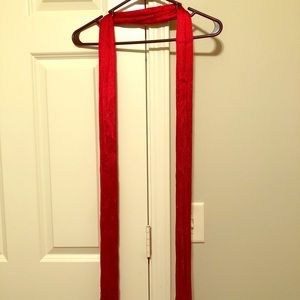 Fashionable red scarf